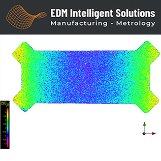 Industrial Stamped Component Flatness Evaluation