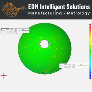3D Metrology Services - Carbide Sphere with Micro Through Hole