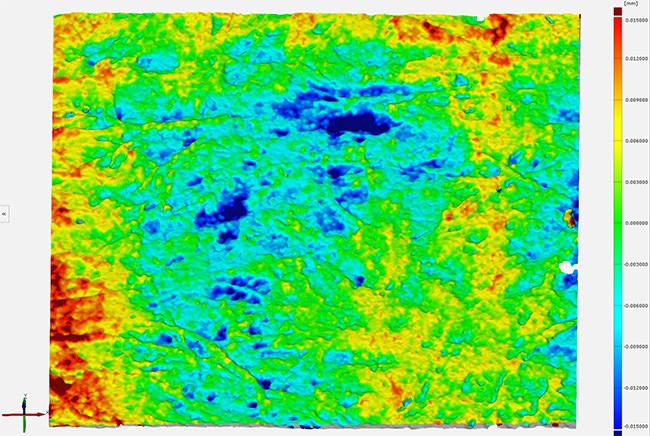 3D Metrology Services - Industrial - Glassine Tissue Average Fiber Deviation Inspection