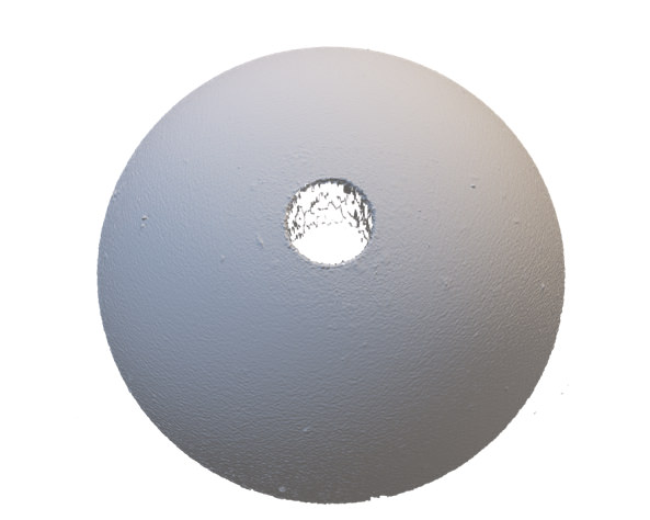 Carbide Sphere with Micro Through Hole
