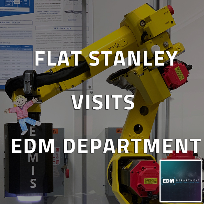 Flat Stanley Visits EDM Department