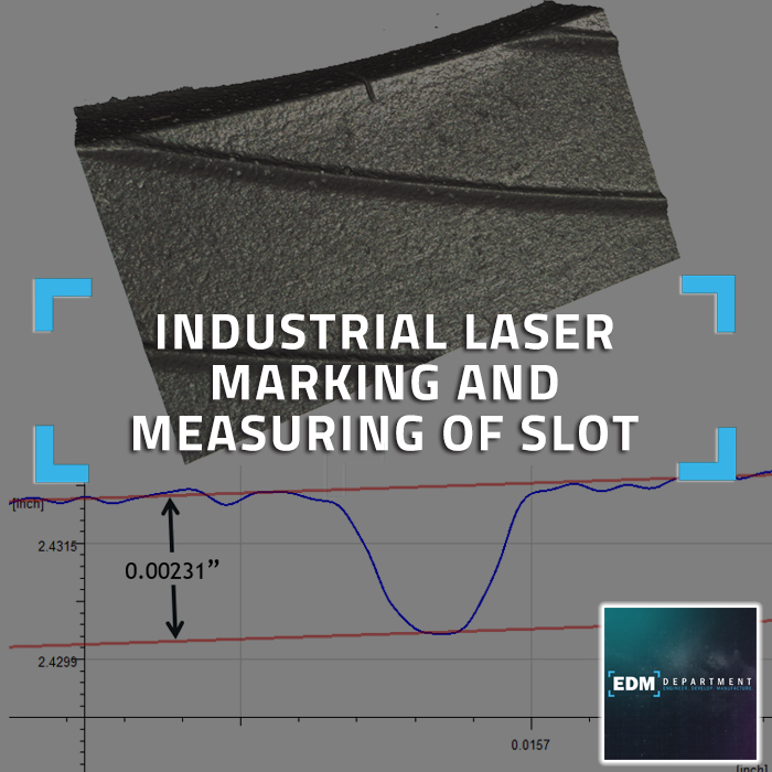 Industrial Laser Marking and Measuring of Slot