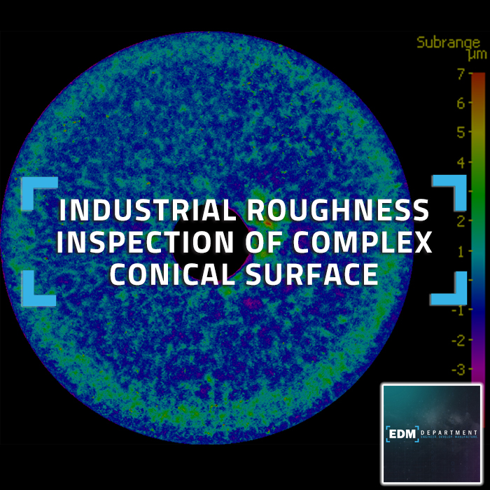 Industrial Roughness Inspection of Complex Conical Surface