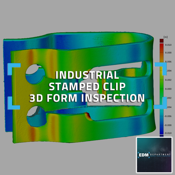 Industrial Stamped Clip 3D Form Inspection