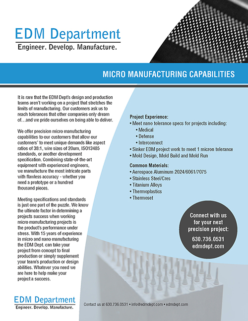 Micro Manufacturing Capabilities