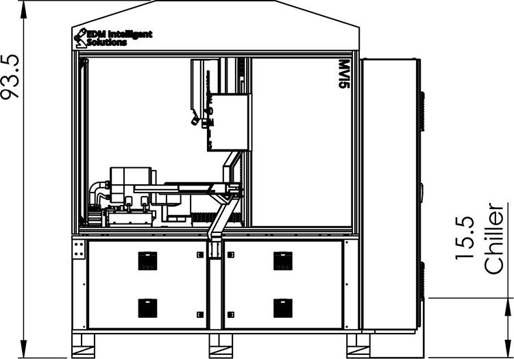 MVi5 3D Metrology Center Dimensions