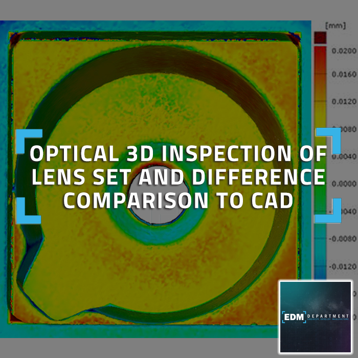 Optical 3D Inspection of Lens Set and Difference Comparison to CAD