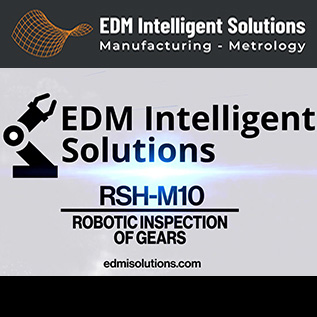 Robotic Inspection of Gears - RSH-M10 - EDM Department Inc.